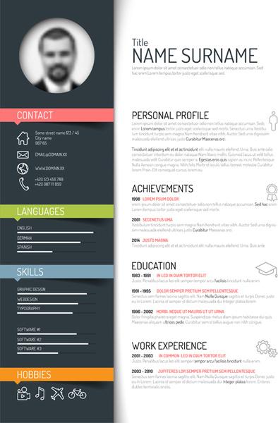 Creative resume template design vectors Free vector in Encapsulated