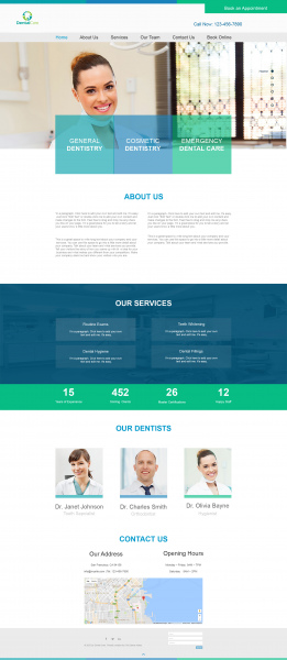 Dentist web template Free psd in Photoshop psd ( psd ) format