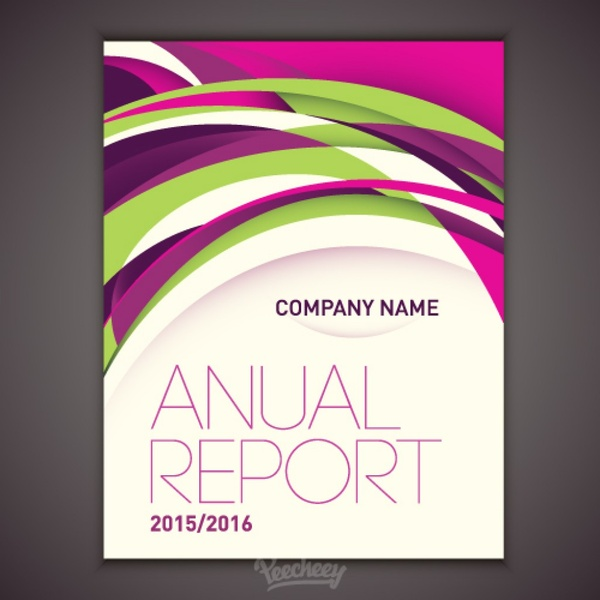 Design for annual report cover Free vector in Adobe Illustrator ai