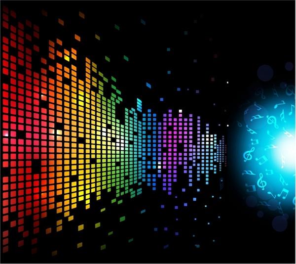 Digital Music Background Free vector in Adobe Illustrator ai ( AI