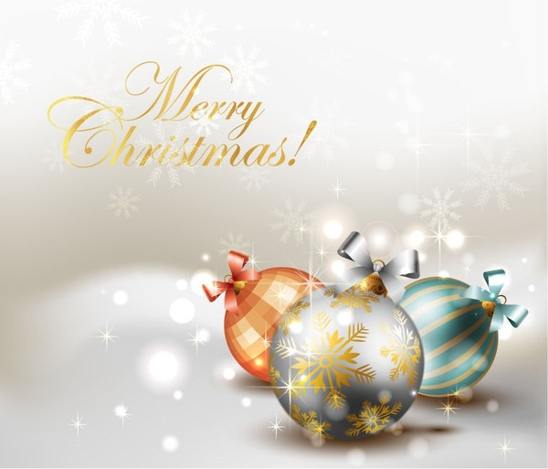 Elegant christmas background vector graphic Free vector in