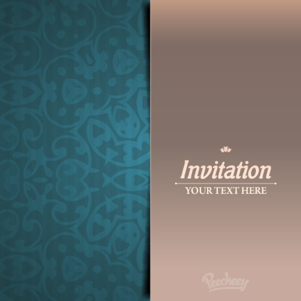Elegant invitation card Free vector in Adobe Illustrator ai ( ai