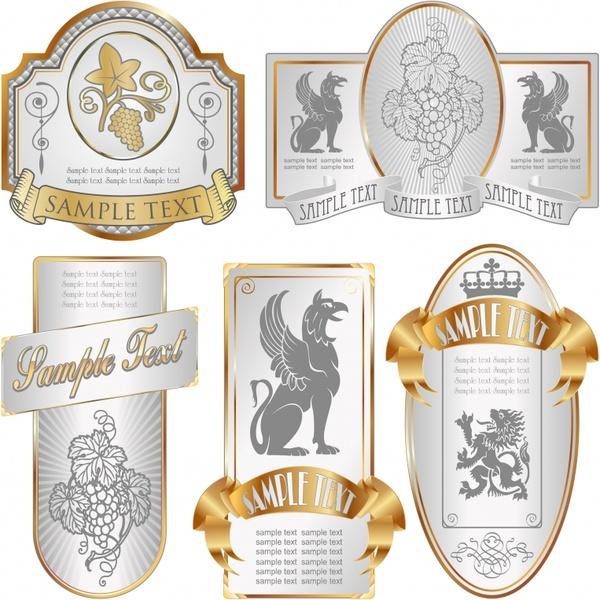 Elegant wine label vector Free vector in Encapsulated PostScript eps - free wine label design