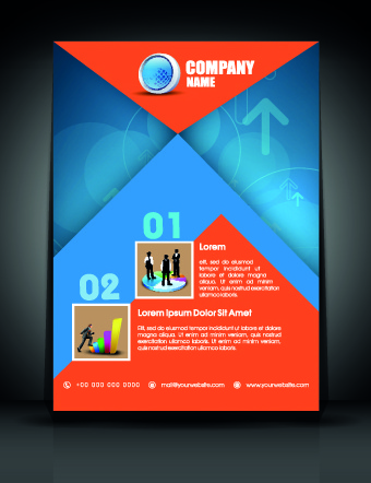Exquisite business flyer template Free vector in Encapsulated - free business flyers templates