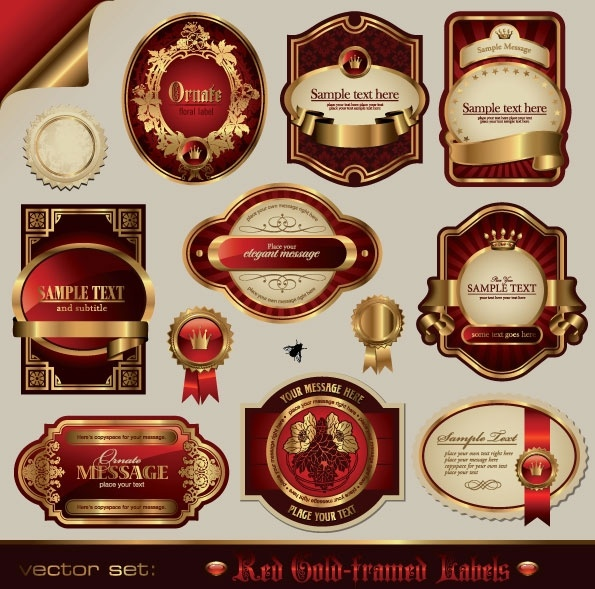 Fine labels wine labels 01 vector Free vector in Encapsulated