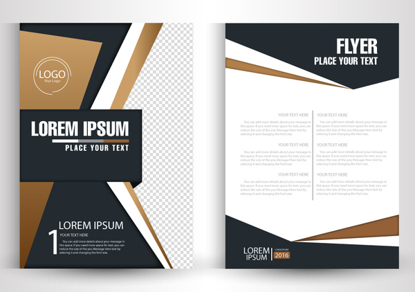 Flyer vector design with abstract modern style Free vector in Adobe