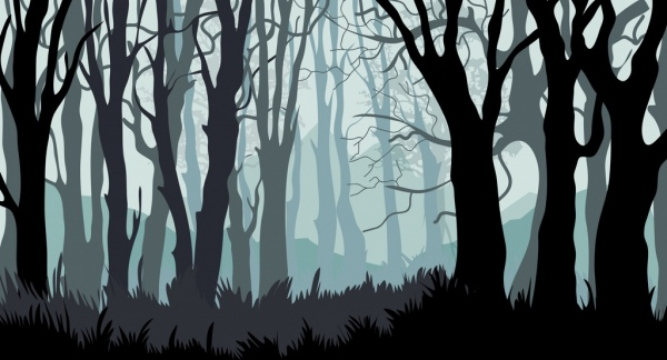 Fall Cabin The Woods Wallpaper Forest Background Leafless Trees Icons Cartoon Design Free