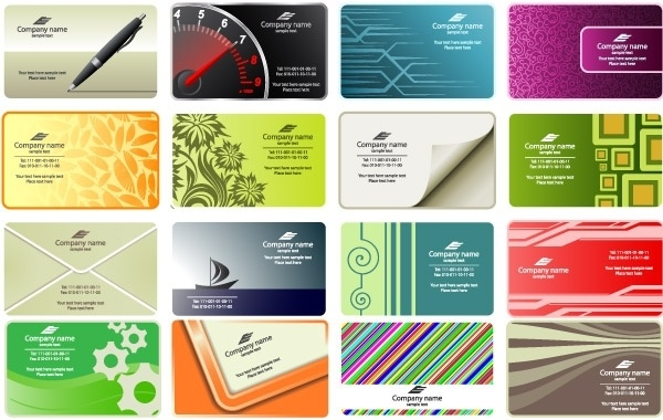 Free vector business card templates Free vector in Encapsulated