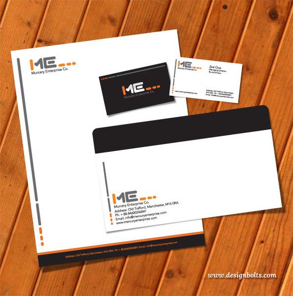 Free vector printable stationery design template letterhead business - letterhead and envelope design