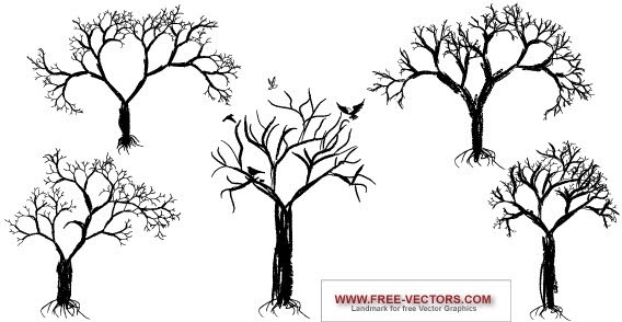 Free vector tree set Free vector in Photoshop brushes abr ( abr