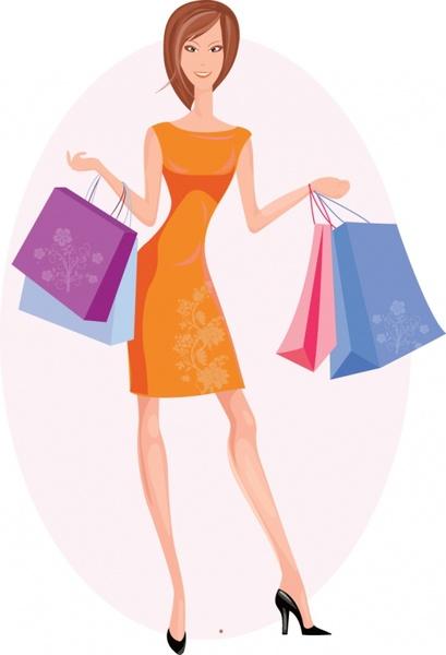 Girl Holding Money Wallpaper Shopping Bag Vector Free Vector Download 2 181 Free
