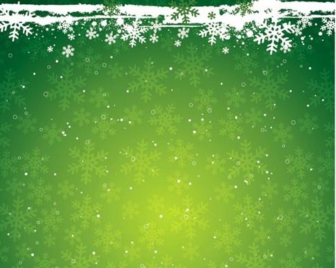 Green Snowflake the Christmas Theme Vector Background Material Free - christmas theme background
