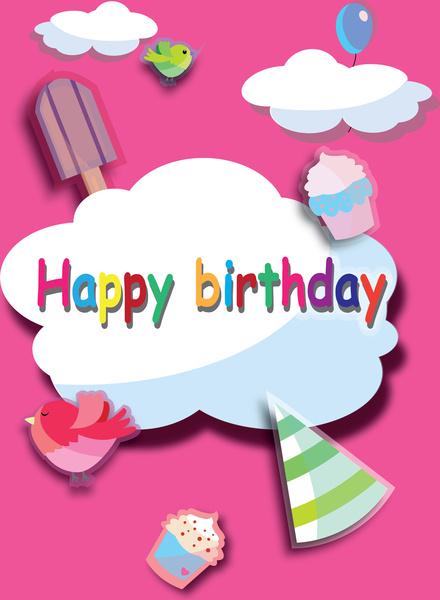 Happy birthday poster Free vector in Adobe Illustrator ai ( ai