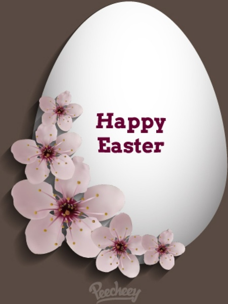 Happy easter greeting card Free vector in Adobe Illustrator ai - easter greeting card template