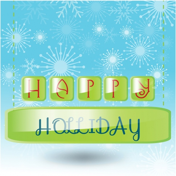 Happy Holidays Free vector in Adobe Illustrator ai ( AI