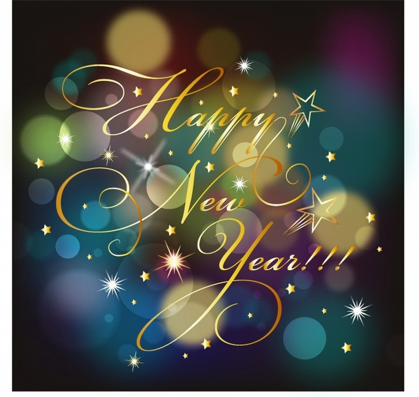 Happy New year background Free vector in Adobe Illustrator ai ( AI