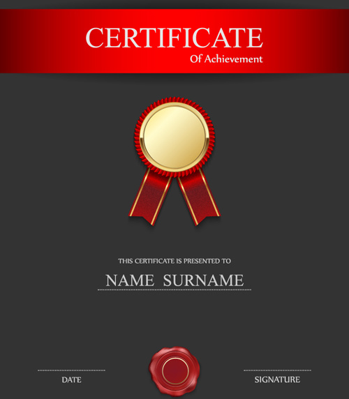 Honor certificate creative design vector Free vector in Encapsulated