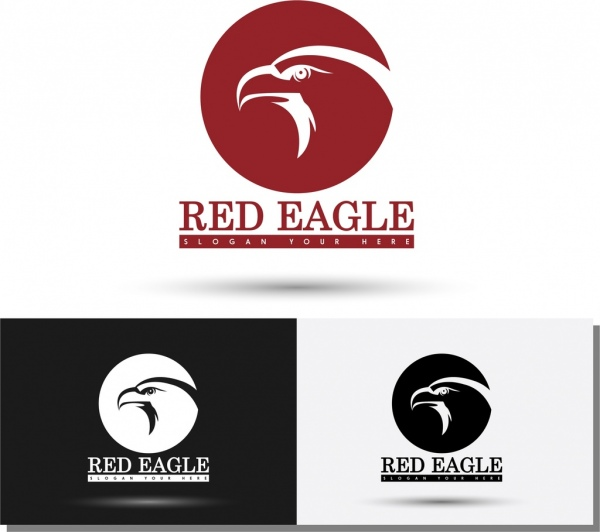 Logos templates sketch eagle icon silhouette style Free vector in