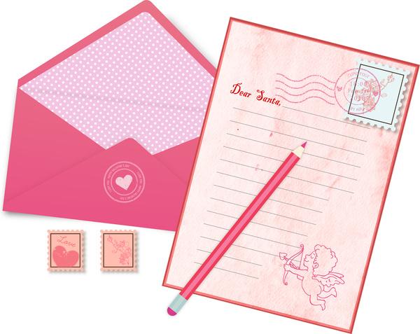 Love letter mail Free vector in Adobe Illustrator ai ( ai ) vector - love letter