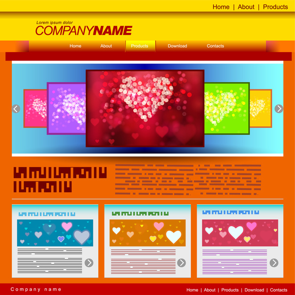 Love website templates Free vector in Adobe Illustrator ai ( ai
