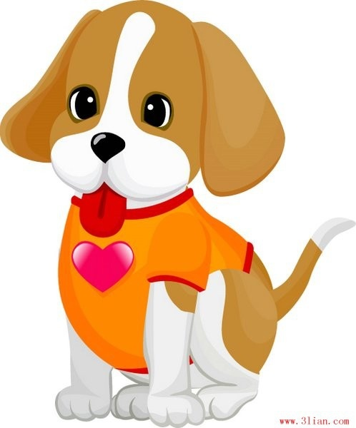 Cute Happy Girl Wallpapers Lovely Pet Dog Vector Free Vector In Adobe Illustrator Ai