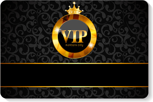 Luxurious vip members cards design vectors Free vector in