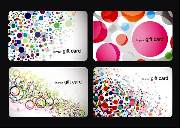 Modern Gift Card Templates Vector Set Free vector in Encapsulated