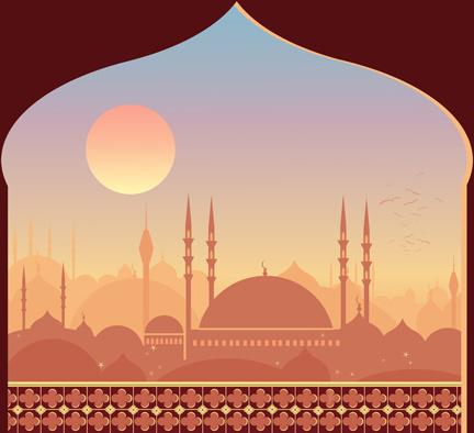 Wallpaper Cartoon Islamic Girl Mosque Minaret Free Vector Download 236 Free Vector For