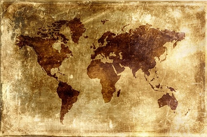 Nostalgic world map background picture Free stock photos in Image