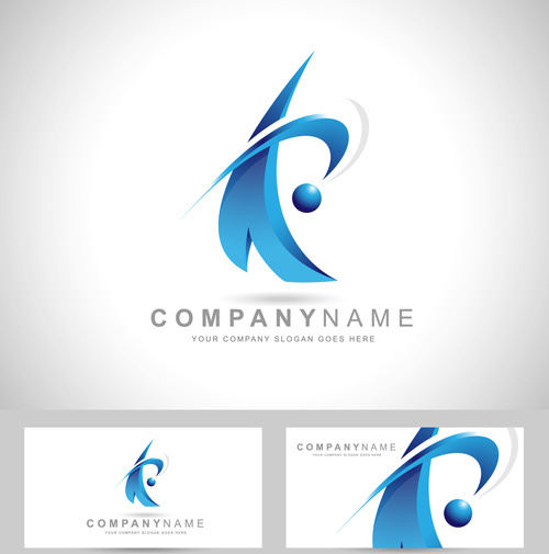 Original design logos with business cards vector Free vector in
