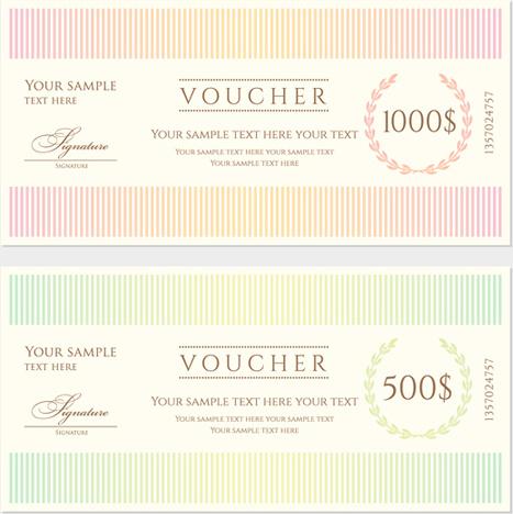 Ornate gift voucher vintage template vector Free vector in - gift voucher format sample