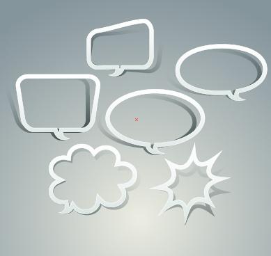 Outline speech bubble design vector Free vector in Encapsulated