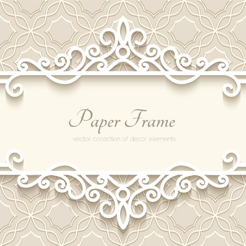 Paper frame with beige background vector Free vector in Encapsulated
