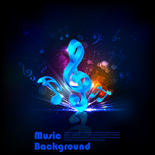 Party night flyer background vector Free vector in Adobe Illustrator