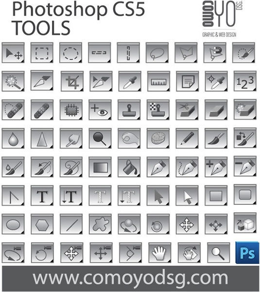 Photoshop CS5 Tool Collection Free vector in Encapsulated PostScript