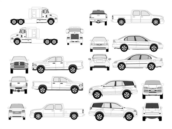Pro Vehicle Outlines Free vector in Adobe Illustrator ai ( ai