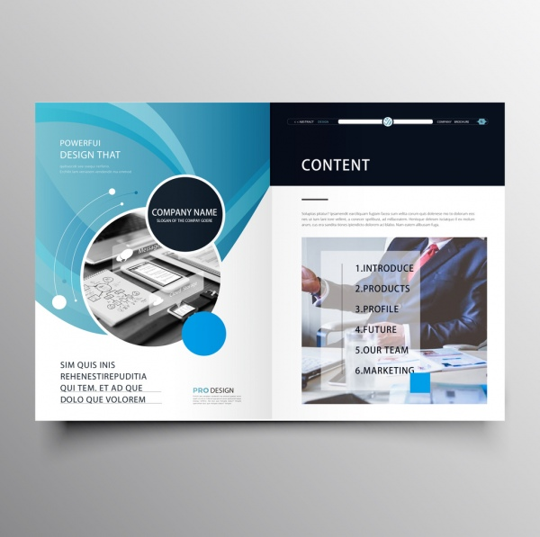 Professional company brochure template Free vector in Adobe - Company Brochure Templates