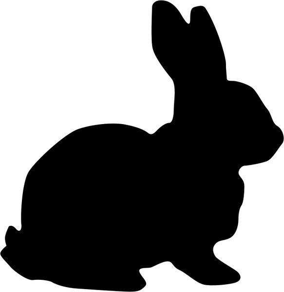 Cute Happy Girl Wallpapers Rabbit Silhouette Free Vector In Open Office Drawing Svg