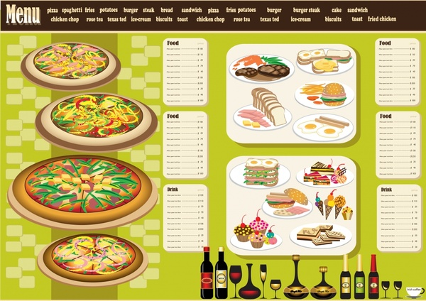 Restaurant menu design template vector Free vector in Encapsulated