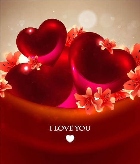 Romantic hearts background vector Free vector in Encapsulated