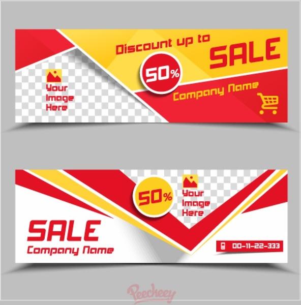 Sale banner template Free vector in Adobe Illustrator ai ( ai