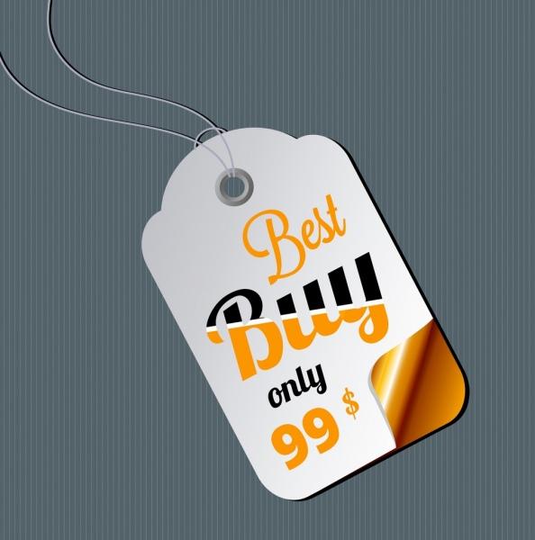 Sale tag template bright modern design Free vector in Adobe