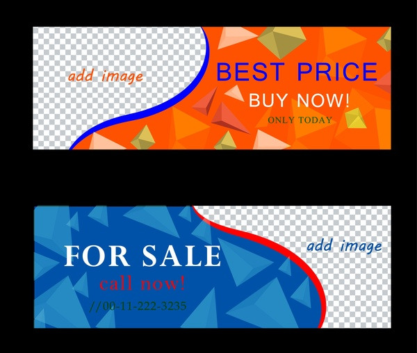 Sales banner templates checkered and crystal background Free vector