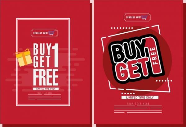 Sales poster templates red design capital texts decoration Free - for sale poster template