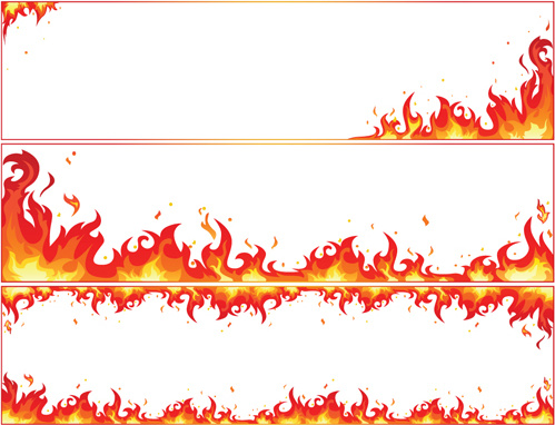 Set Of Burning Paper Vector Art Free Vector In