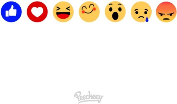 New Sad Girl Wallpaper Set Of Facebook Emoticons Free Vector In Adobe Illustrator