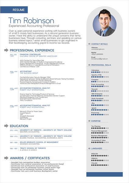 Simple professional resume template Free vector in Adobe Illustrator - professional it resume format