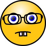 Smiley Face With Glasses Clip Art Free Vector In Open Office Drawing