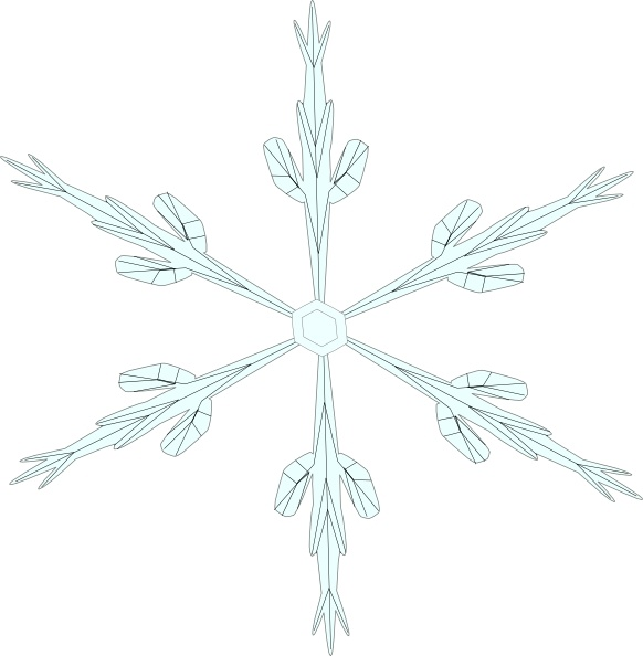 Snowflake 6 clip art Free vector in Open office drawing svg ( svg
