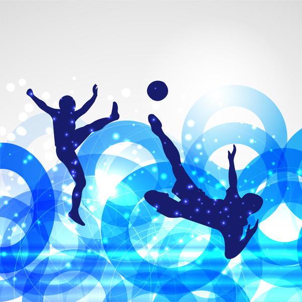 Car Wallpaper Clipart Soccer Poster With Players On Circles Bokeh Background